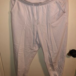 Pants - White garage plush joggers